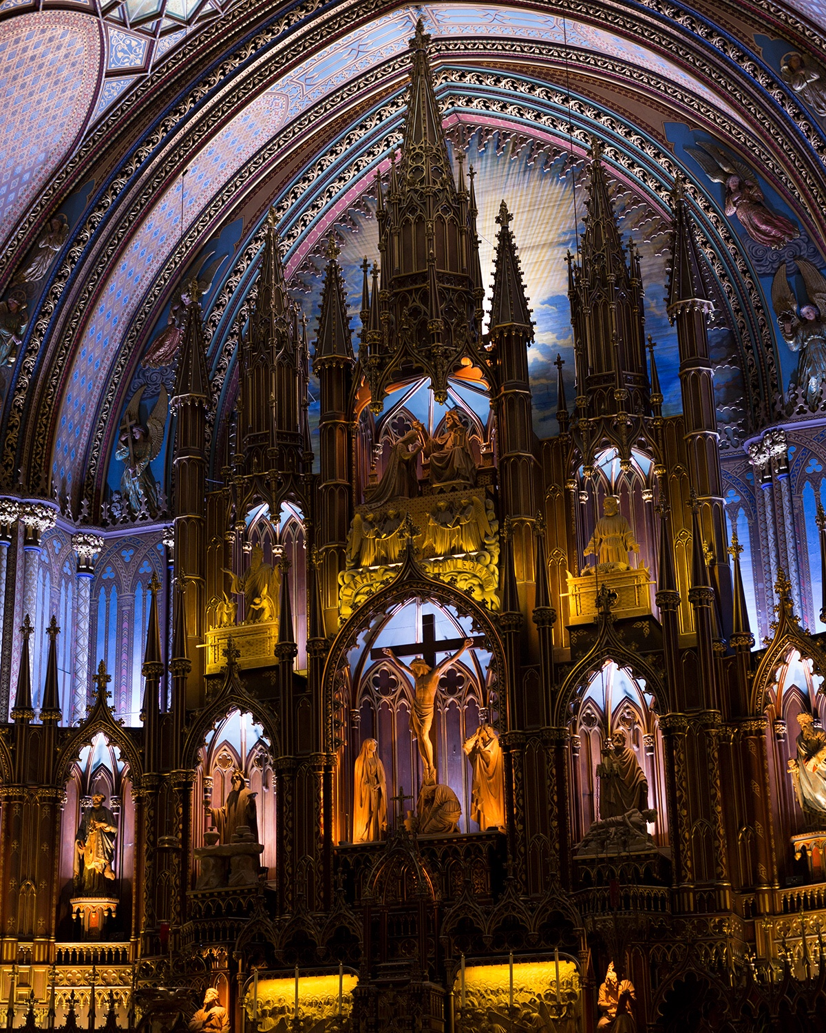 Interior of the Notre Dame Basilica- Montreal