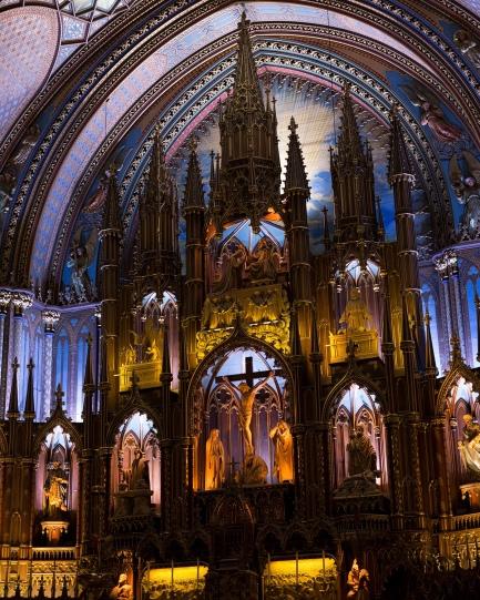 Interior of the Notre Dame Basilica- Montreal